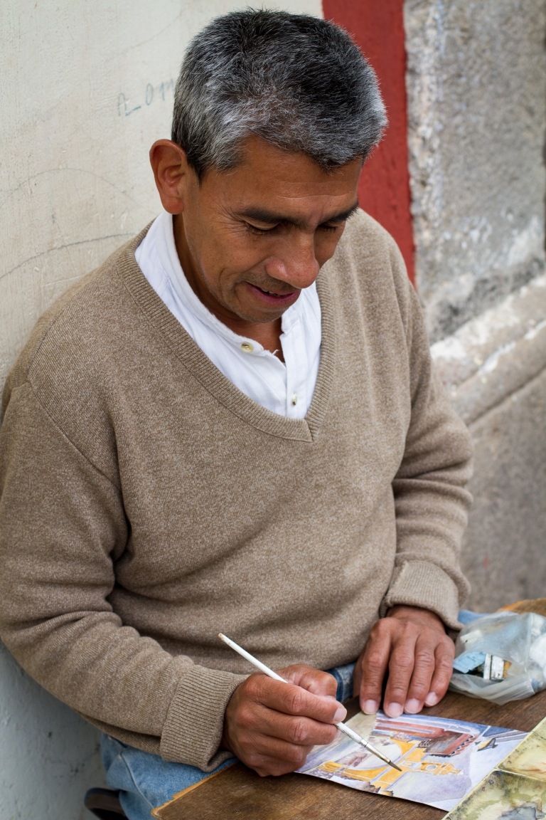 antigua-guatemala-painter