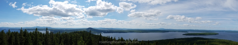View from fire tower at Mount Kineo, Maine - Where to stay, eat, and things to do in central Maine—including Bangor, Moosehead Lake, and Baxter State Park regions. Responsible travel