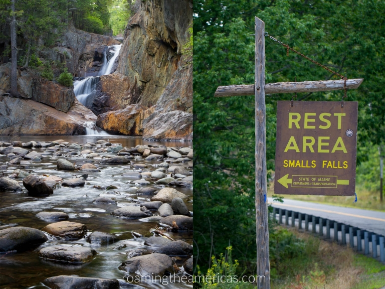 Smalls Falls, Maine | Looking for the best places to visit in Maine? If you're craving a quiet, off-the-beaten-path adventure, check out this local's guide for 8 inland Maine destinations! New England travel | Maine vacation | nature and outdoor adventure | inland maine destinations @roamtheamericas