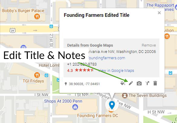 Google My Maps Change Title Notes