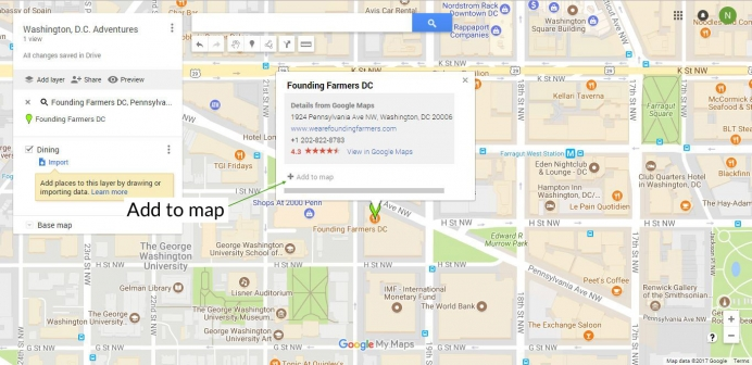 google my maps add place