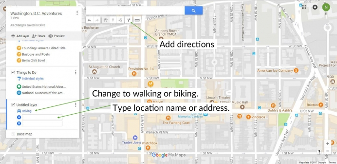 The Ultimate Guide To Using Google My Maps To Plan A Trip Tutorial - Google maps to and from