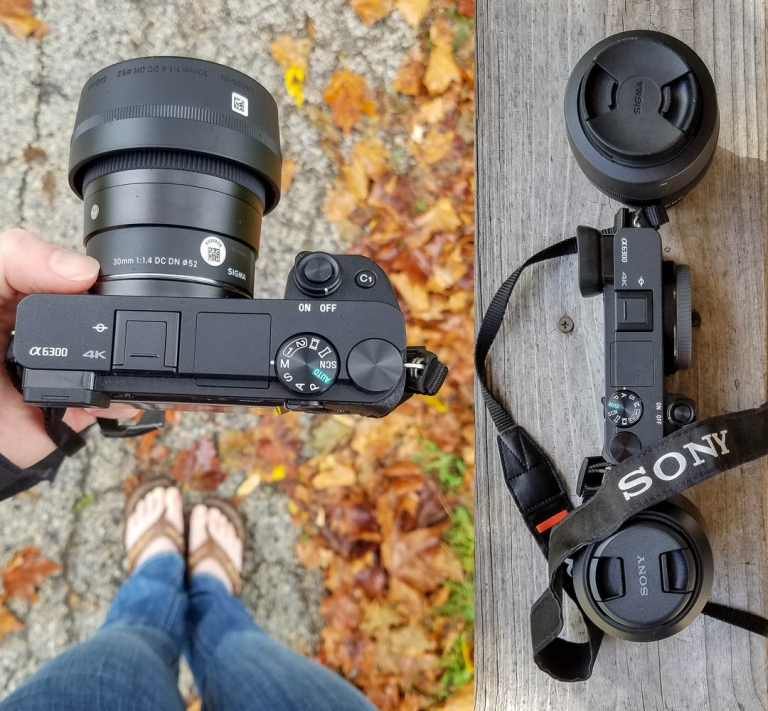 Rented camera gear - Sony mirrorless a6300 camera with Sigma 30 mm lens
