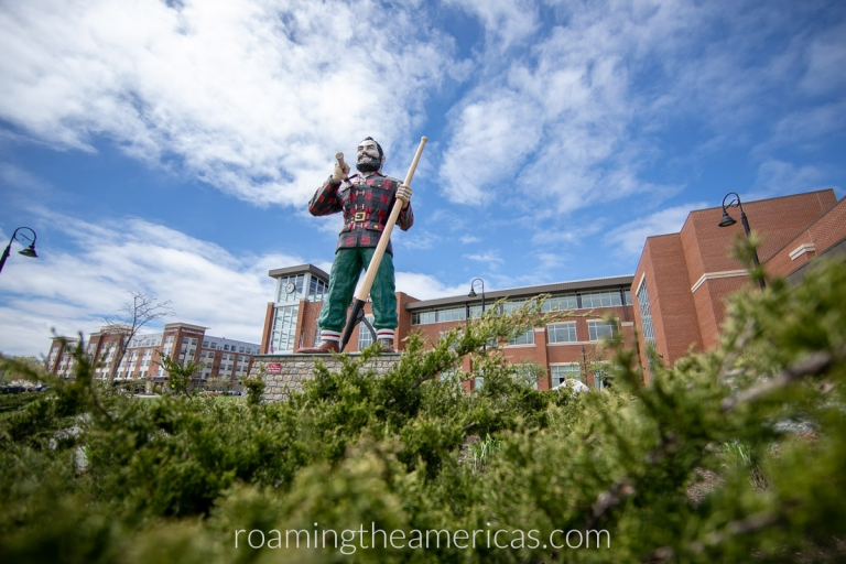 Paul Bunyan statue in Bangor, Maine