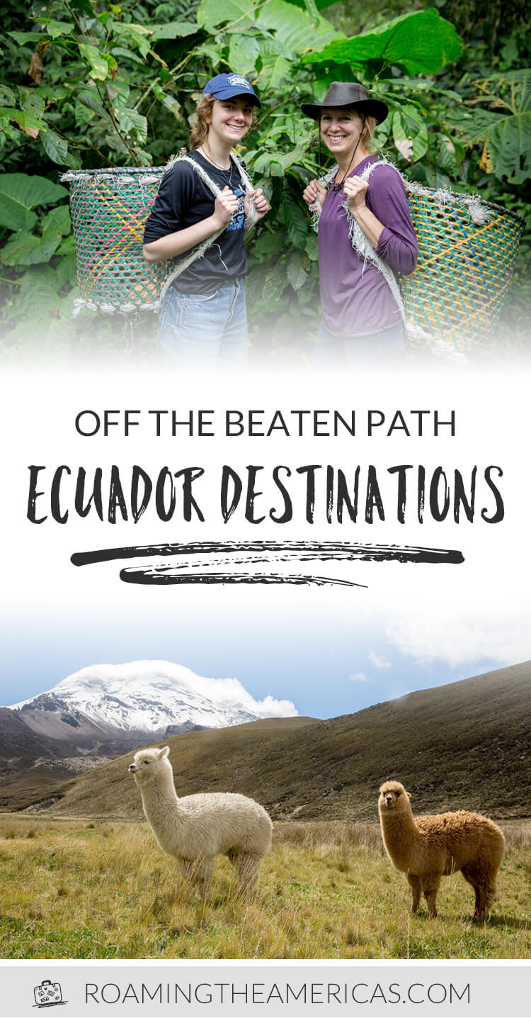 Ecuador is a country with a stunning and diverse landscape, but many people planning a trip there think only of the Galápagos Islands—with a stopover in Quito being a logistical afterthought. But there's far more to Ecuador than these famous islands—and even more to discover beyond the Amazon jungle or gorgeous beaches. Check out these 4 off-the-beaten-path places to visit in Ecuador! #ecuador #travel #southamerica #bucketlist #sustainable