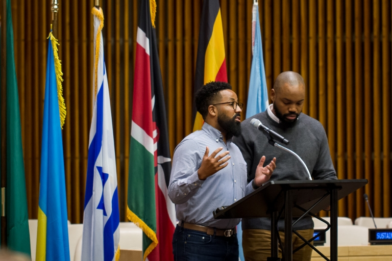 Co-Founders of Black & Abroad speaking at the United Nations at the Impact Travel Alliance 2017 Summit