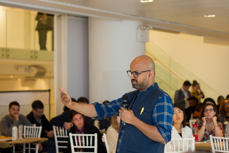 Founder of Skift, Rafat Ali, speaking at the Impact Travel Alliance 2017 Summit