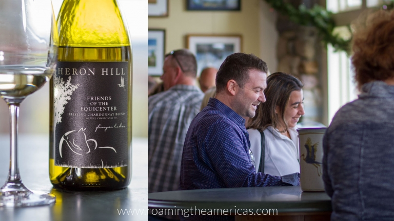Heron Hill tasting room in the Finger Lakes