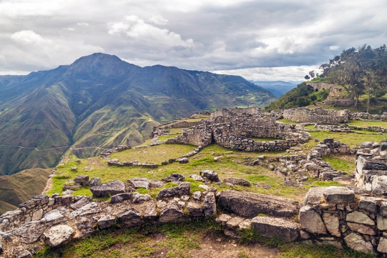 Kuélap ruins in Peru on a mountaintop
