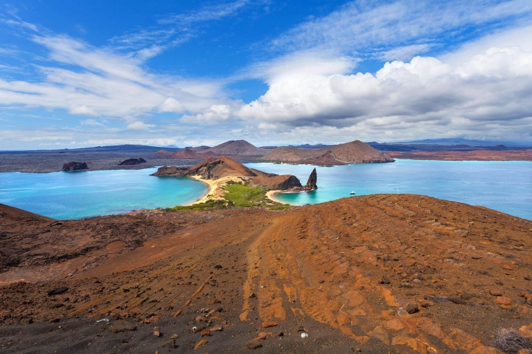 View of Bartolome island in the Galápagos Islands in Ecuador