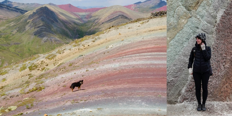 Scenic views at Palccoyo Rainbow Mountain in Peru