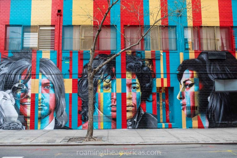The colorful 27 Club mural on a wall in New York City