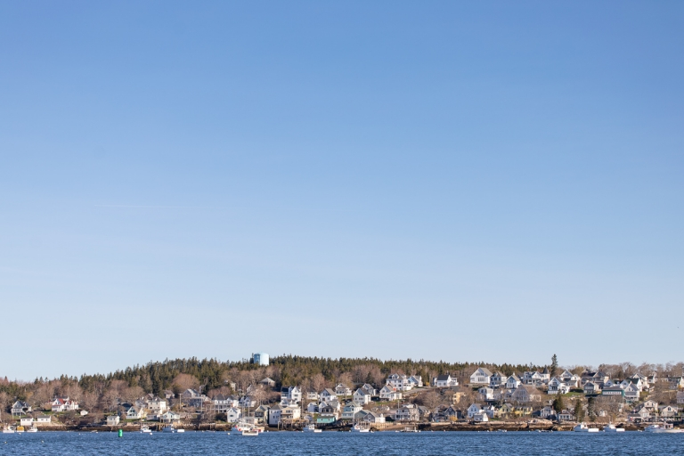 View of Stonington, Maine in the spring from the water